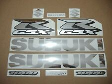 GSXR 1000 chrome silver custom decals stickers graphics kit set 2001 2003 2005