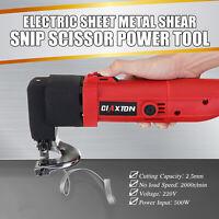 500W 2000r/min Electric 2.5mm Sheet Metal Shear Snip Cutter Scissors Nibbler