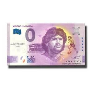 Billet Euro Souvenir AGAA 2021-2 Argentina Anniversary Diego 1960-2021