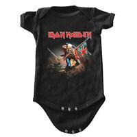 IRON MAIDEN Trooper Baby Kids Infant 1pc Bodysuit Romper Creeper 0-24 Months