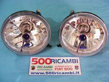FIAT 500 F/L/R KIT FARI ANTERIORI SPORTIVI CRYSTAL FARO H4 LEXUS TUNING BLU CROM