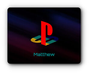 GAMER PLAYSTATION PERSONALISED MOUSE MAT / PAD