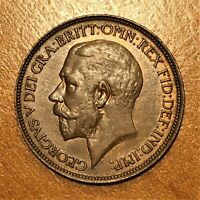 1912 Great Britain 1/2 Penny, George V, KM# 809, Weak Strike, UNC.