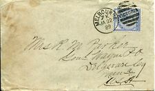Victoria Australia to Usa Cover Postage Envelope 1889 Melbourne