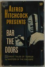 Alfred Hitchcock presents Bar the Doors 13 short stories terror pulp 1962 PB