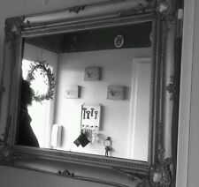 Wall Mirror Silver Cottage Antique Baroque Shabby Chic Floor Make-Up