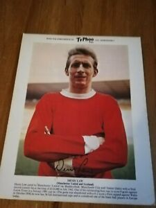 1960s Ty.Phoo Tea football picture card, Denis Law Manchester United.