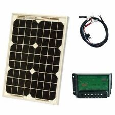 New 20W 12V Solar Panel with Regulator Portable Camping Power Generator Battery