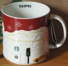 Starbucks Christmas Relief Mug Taipei rot, 16 oz neu mit SKU-Stick, Rarität, HTF