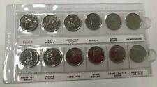 Canada 2007 2008 Olympic 25 Cents 12 Quarter Coin Set BU UNC