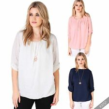 Blouse 3/4 Sleeve Scoop Neck Tops & Shirts for Women