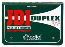 "Radial Duplex Passive DI, 2-chan for keyboards with 1/4"" , BEST OFFER R019"