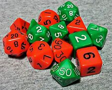 2 Sets of 7 Polyhedral Dice for RPGs Dungeons and Dragons, Pathfinder, games