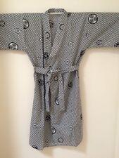 """Men Asian Art Kimono Yukata Cotton Japanese Bathrobe Robe Gown Sleepwear 57"""" Lg~"""
