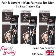 3x Fair And Lovely Mens Max Fairness Cream Skin Face Lightening Male - 50 grams