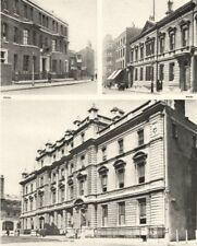 LONDON POLICE STATIONS. Thames, Bow Street, Marylebone 1926 old vintage print