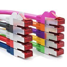 deleyCON 10x 0,5m CAT6 Patchkabel Netzwerkkabel Gigabit LAN DSL S/FTP PIMF Bunt