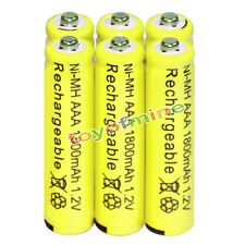 6x AAA battery batteries Bulk Nickel Hydride Rechargeable NI-MH 1800mAh 1.2V Ye