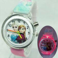 Orologio Bambina Frozen Elsa da Polso con LED CARTOON DISNEY SWATCH ROSA