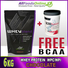 WHEY PROTEIN POWDER - WPC / WPI - WHEY BLEND - CHOCOLATE - 6KG