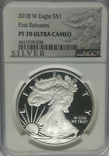 NGC PF70 2018-W Proof American SILVER EAGLE $1 Dollar Coin 1oz .999 West Point ~
