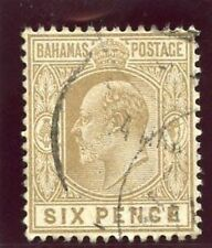 Used Single Edward VII (1902-1910) Bahamian Stamps