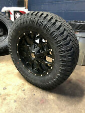 "Mayhem Warrior Black 18x9 Wheels 33"" Atturo Xt Tires 8x180 Gmc Sierra 2500 Hd"
