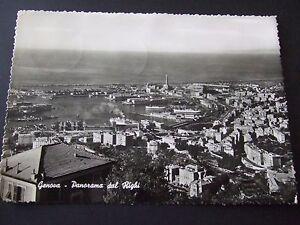 Italy GENOVA Genoa Panorama Dal Righi  RP PPC PM 1959 Oranje Nederland