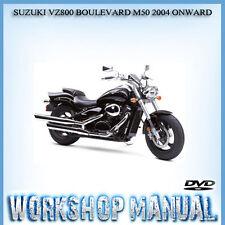 SUZUKI VZ800 BOULEVARD M50 2004 ONWARD BIKE WORKSHOP REPAIR MANUAL IN DISC