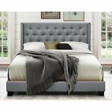 Aadvik Tufted Upholstered Low Profile Standard Bed Frame