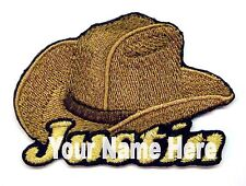 Cowboy Hat Custom Iron-on Patch With Name Personalized Free