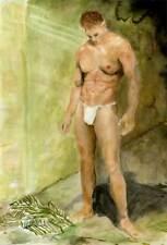 loincloth NUDE Male LABYRINTH 1/18/50 ArtofEsteban Realism Signed US FREE SHIP