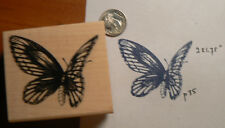 """Butterfly rubber stamp 2x2"""" WM"""