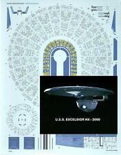 Aztec Decals for the Star Trek EXECELSIOR 1/1000 scale model