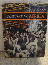 Playtime in Africa by Efua Sutherland HC DJ 1972