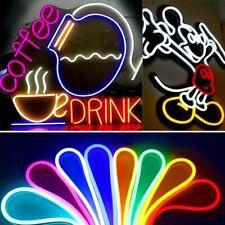Led Neon Light Sign Beer Soft Flexible Tube Strip Rope Bar Decor Sport Gift Sale