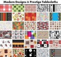 Modern PVC Tablecloth Vinyl Wipe Clean Oilcloth Latest Designs 140x200cm