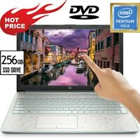 HP TOUCHSCREEN Laptop 15.6 LED Intel Pentium 6405 256GB SSD 8GB Ram DVD+RW Win10