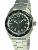 Vostok Komandirskie 650541 Watch Russian Military Automatic Black 24 Hours