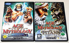 AGE OF MYTHOLOGY & THE TITANS EXPANSION GOLD EDITION MIT HANDBUCH & KARTEN PC CD