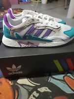 New Adidas Boost TRESC RUN Shoes Purple Turquoise Gray EH1352 Men's Size 13