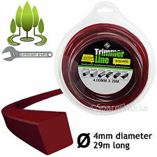 4mm Decespugliatore Trimmer Decespugliatore Cavo Linea 4.0mm BENZINA BOBINA RICAMBIO LUNGO 29m