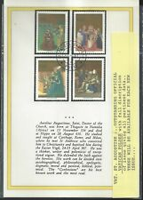 Vatican 1987 St Augustine Issue Booklett Fdc
