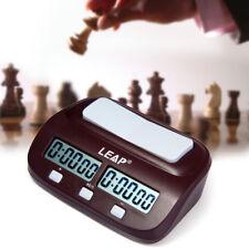 Neu LEAP PQ9907S Digitaler Schachuhr I-Go Count Up Down Timer Schach Spielen
