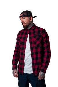 Dragstrip Clothing Black Burgundy Red Checkered Shirt Hot Rod  Lumberjack Shirt