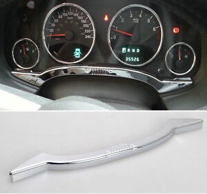 Chrome Inner Instrument Panel Dash Board Trim For 2011-2016 Jeep Compass Patriot