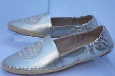 New Tory Burch Darien Shoes Ballet Flats Size 9 Loafer Gold Leather