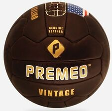 Premeo Vintage Leather Soccer Ball 1950's 100% Genuine leather