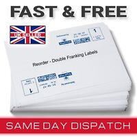 500 Franking Machine Labels NEOPOST White Doubles per Sheet - 250 Sheets