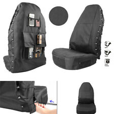 Car Seat Protector Waterproof Durable Polyester Fabric w/ Cargo Pockets